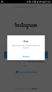 Instagram login error